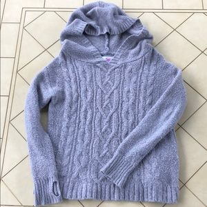 Justice Gray Hooded Sweater Girls Size 12
